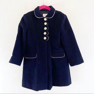 Laura Ashley Girls Pea Coat 4 Yrs Wool